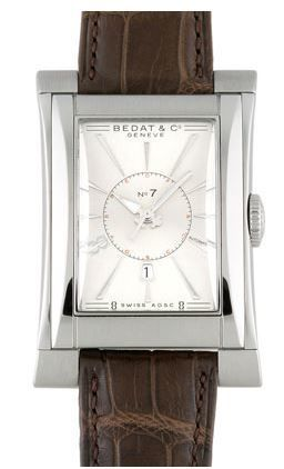 Bedat No. 7  Silver Dial Brown Leather Men's Watch 737.010.610