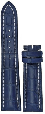 Breitling Leather 24-20mm Blue Crocodile Leather  Strap 746P