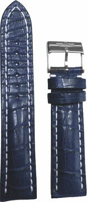 Breitling Leather 24-20mm Blue Crocodile Men's Strap with Buckle 746P-A20BA.1