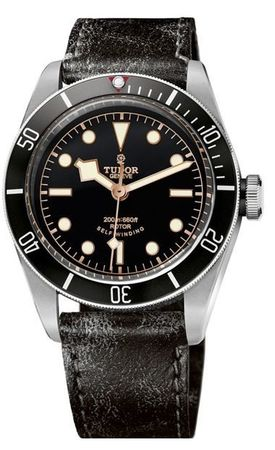 Tudor Heritage Black Bay  on Aged Leather Men's Watch 79220N-CUIR