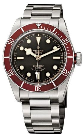 Tudor Heritage Black Bay  Red Bezel Steel Men's Watch 79220R-95740