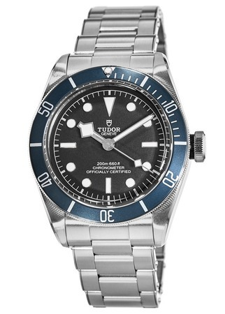 Tudor Heritage Black Bay  Blue Bezel Automatic Steel Band Men's Watch 79230B-0001