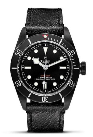 Tudor Heritage Black Bay  Black PVD Automatic Aged Leather Strap Men's Watch 79230DK-BKLS