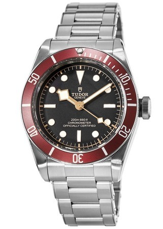 Tudor Heritage Black Bay Steel Red Bezel Automatic Men's Watch 79230R-0003