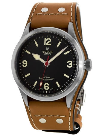 Tudor Heritage  Ranger on Leather Strap Men's Watch 79910-0002