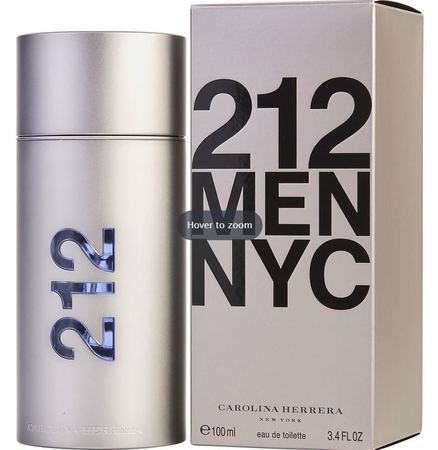Carolina Herrera Cologne  212 Men NYC EDT Spray 3.4 OZ Men's Fragrance 8411061341605