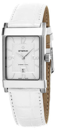 Eterna 1935  Swiss Automatic White Leather Women's Watch 8491.41.10.1165