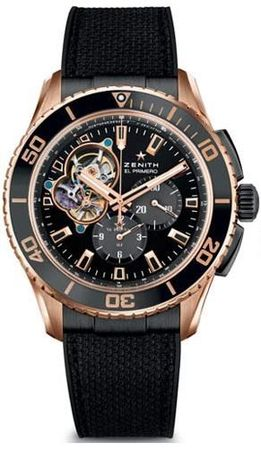 Zenith El Primero Stratos Spindrift Rose Gold Men's Watch 86.2060.4061/21.R573