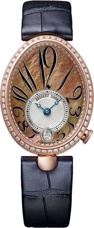 Breguet Reine de Naples Automatic Rose Gold Tahitian Mother of Pearl Diamond Dial Women's Watch 8918BR/5T/964.D00D
