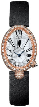 Breguet Reine de Naples Automatic 18K Rose Gold Diamond Mother of Pearl Dial Women's Watch 8928BR/51/844.DD0D