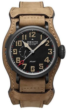 Zenith Pilot Montre d'Aeronef Type 20 GMT  Men's Watch 96.2431.693/21.C738