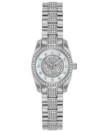 Bulova Crystal  Mother of Pearl Dial Women's Watch 96L253