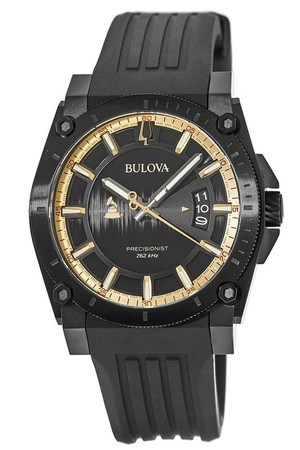 Bulova Special Edition 2017 Grammy Black Silicone Strap Men's Watch 98B294