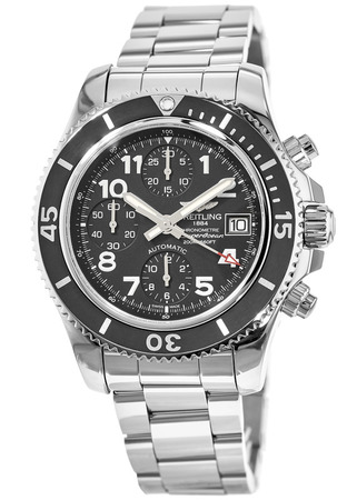 Breitling Superocean Chronograph 42 Black Dial Stainless Steel Men's Watch A13311C9/BE93-161A