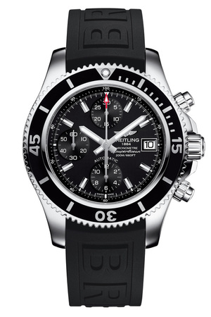 Breitling Superocean Chronograph 42 Black Dial Black Rubber Men's Watch A13311C9/BF98-150S