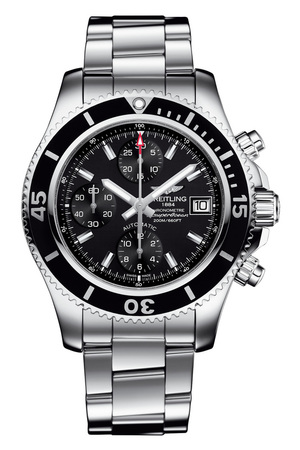 Breitling Superocean Chronograph 42 Black Dial Stainless Steel Men's Watch A13311C9/BF98-161A
