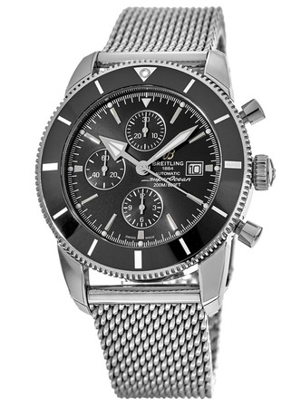 Breitling Superocean Heritage II Chronograph 46 Volcano Black Dial Ocean Classic Stainless Steel Men's Watch A1331212/BF78-152A