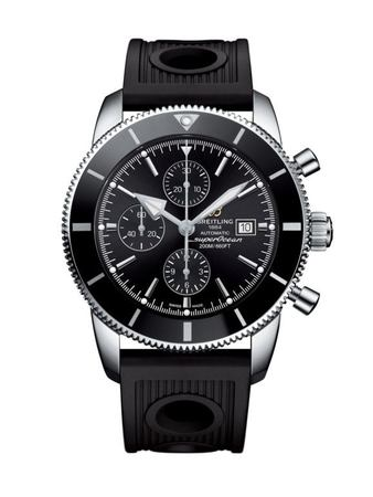 Breitling Superocean Heritage II Chronographe 46 Black Dial Black Rubber Men's Watch A1331212/BF78-201S