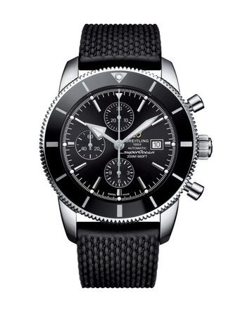 Breitling Superocean Heritage II Chronographe 46 Volcano Black Dial Black Aero Classic Rubber Men's Watch A1331212/BF78-256S