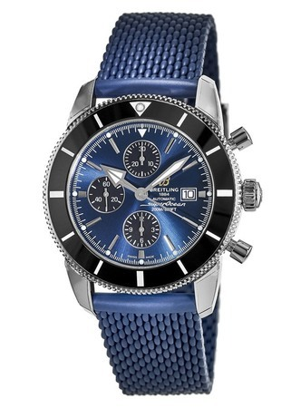 Breitling Superocean Heritage II Chronographe 46 Gun Blue Dial Blue Rubber Aero Classic Men's Watch A1331212/C968-277S