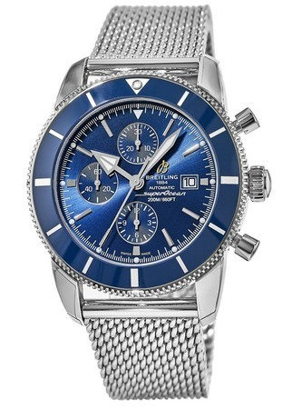 Breitling Superocean Heritage II Chronographe 46 Blue Dial Stainless Steel Men's Watch A1331216/C963-152A