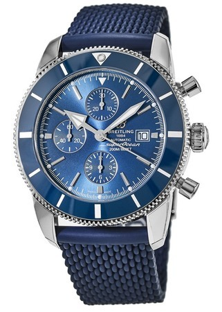 Breitling Superocean Heritage II Chronographe 46 Blue Dial Blue Rubber Men's Watch A1331216/C963-277S