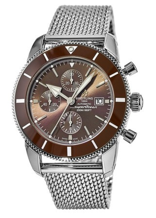 Breitling Superocean Heritage II Chronographe 46 Copperhead Bronze Dial Ocean Classic Stainless Steel Band Men's Watch A1331233/Q616-152A
