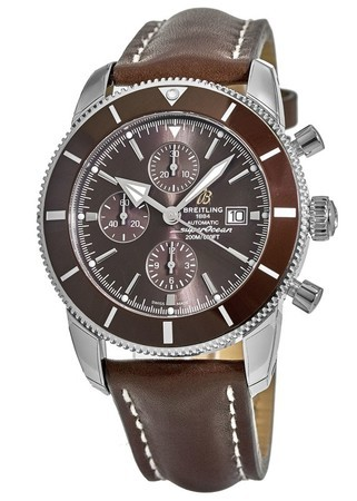 Breitling Superocean Heritage II Chronographe 46 Bronze Dial Bronze Bezel Brown Leather Men's Watch A1331233/Q616-443X