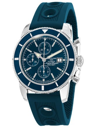 Breitling Superocean Heritage Chronograph Blue Dial Rubber Strap Men's Watch A1332016/C758-205S