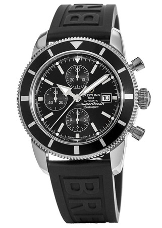 Breitling Superocean Heritage Chronograph 46 Black Dial Black Rubber Men's Watch A1332024/B908-154S