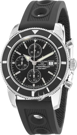 Breitling Superocean Heritage Chronograph Black Dial Black Rubber Men's Watch A1332024/B908-201S