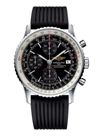 Breitling Navitimer Heritage Black Dial Black Rubber Men's Watch A1332412/BF27-272S