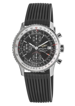 Breitling Navitimer Heritage Black Dial Black Rubber Men's Watch A1332412/BF27-274S