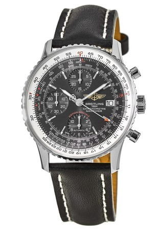 Breitling Navitimer Heritage 42mm Special Edition Black Calf Leather Tang Strap Men's Watch A1332412/BF27-435X