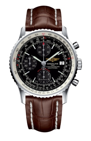 Breitling Navitimer Heritage Black Dial Brown Leather Strap Men's Watch A1332412/BF27-739P