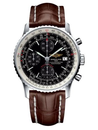 Breitling Navitimer  Black Dial Brown Leather Men's Watch A1332412/BF27-740P