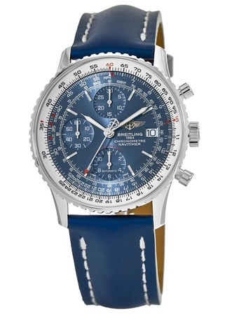 Breitling Navitimer Heritage Blue Dial Blue Leather Men's Watch A1332412/C942-105X