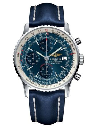 Breitling Navitimer Heritage Blue Dial Blue Leather Men's Watch A1332412/C942-112X