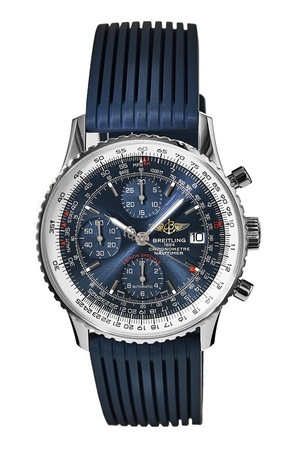 Breitling Navitimer Heritage Blue Dial Blue Rubber Men's Watch A1332412/C942-275S