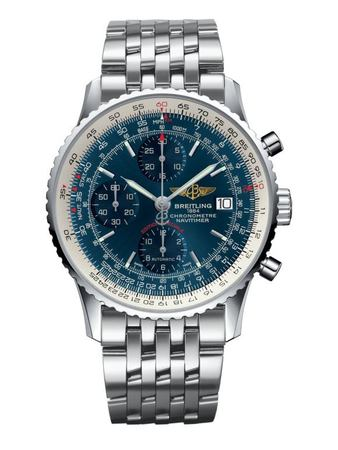 Breitling Navitimer Heritage Automatic Blue Chronograph Dial Steel Men's Watch A1332412/C942-451A
