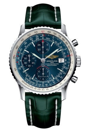 Breitling Navitimer Heritage Blue Dial Green Crocodile Leather Men's Watch A1332412/C942-749P