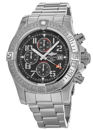 Breitling Avenger Super Avenger II Black Arabic Dial Steel Men's Watch A1337111/BC28-168A