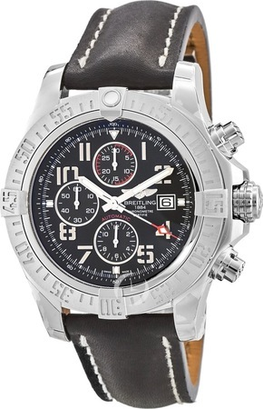 Breitling Avenger Super Avenger II Calf Leather Deployment Men's Watch A1337111/BC28-442X