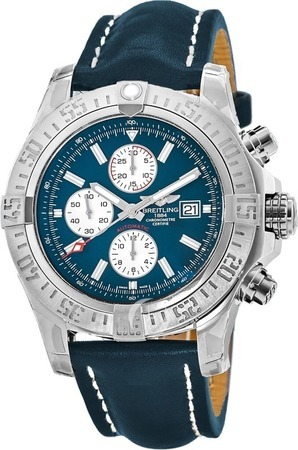 Breitling Avenger  Blue Chronograph Dial Leather Strap Men's Watch A1337111/C871-102X