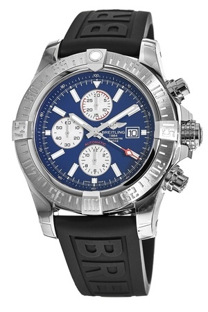 Breitling Avenger Super Avenger II Blue Dial Black Rubber Men's Watch A1337111/C871-154S
