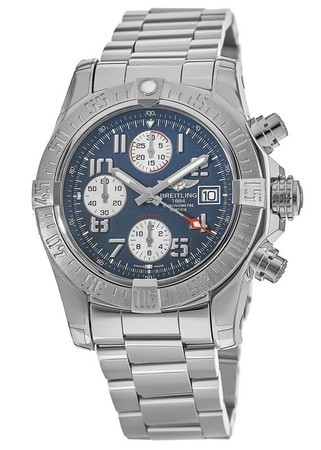 Breitling Avenger Avenger II Chronograph Blue Arabic Dial Steel Men's Watch A1338111/C870-170A