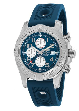 Breitling Avenger Avenger II Chronograph Blue Dial Ocean Racer Leather Strap Men's Watch A1338111/C870-211S