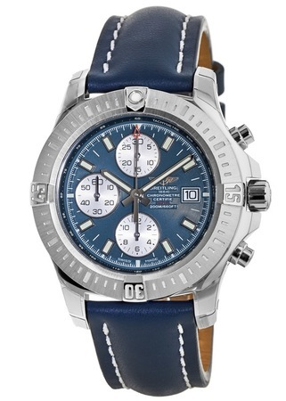Breitling Colt Chronograph Automatic Blue Dial & Strap Men's Watch A1338811/C914-105X