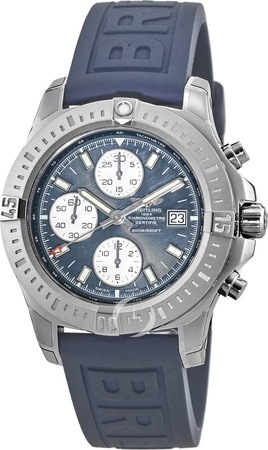 Breitling Colt Chronograph Automatic Blue Rubber Men's Watch A1338811/C914-158S