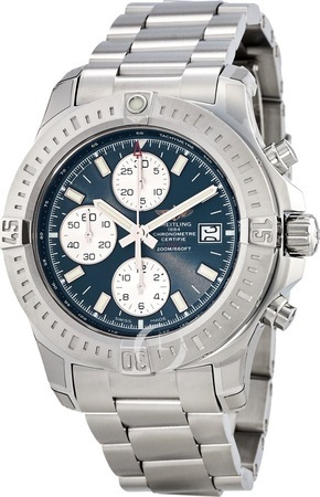 Breitling Colt Chronograph Automatic Blue Dial Steel Men's Watch A1338811/C914-173A